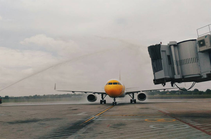 Inaugural Flight of Scoot in PLM