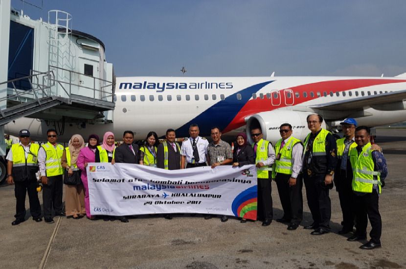 Inaugural Flight of Malaysian Airlines in SUB